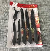Набор кухонных металлокерамических ножей 6шт / ХЕ-6345