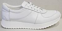 Кроссовки кожаные женские белые от производителя модель АНЖ302, фото 1