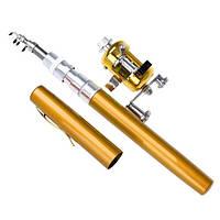 Карманная ручка-удочка Fishing Rod In Pen Case золотистая