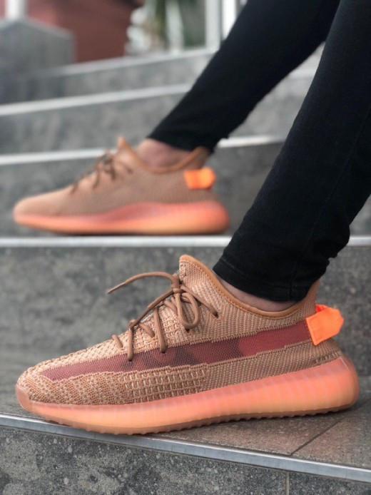 """Стильные кроссовки Adidas Yeezy Boost 350 V2 """"Clay"""" (Адидас Изи Буст 350)"""