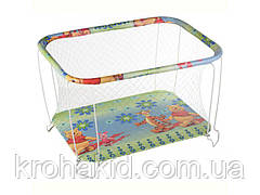 """Детский классический игровой манеж с крупной сеткойKinderBox """"Винни Пух"""" - игровой центр для детей"""