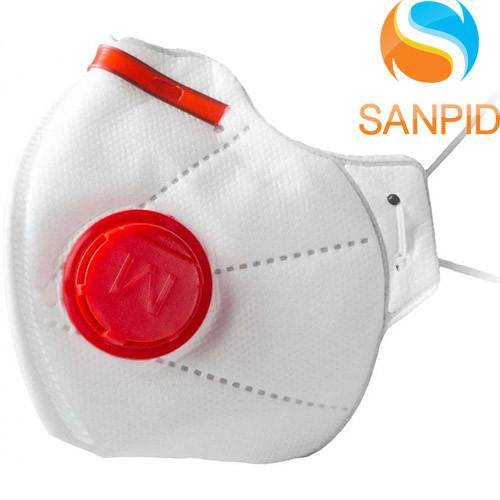 Маска респиратор защитная Микрон FFP3 с клапаном