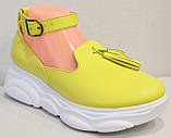 Лоферы женские туфли с ремешком на платформе от производителя модель ЛД109-1, фото 2
