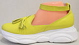 Лоферы женские туфли с ремешком на платформе от производителя модель ЛД109-1, фото 3