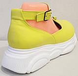 Лоферы женские туфли с ремешком на платформе от производителя модель ЛД109-1, фото 4