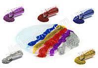 Набор блесток (5 цветов) для слаймов, глиттер, добавки для лизуна, фото 1