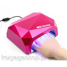 Уфо лампа для ногтей 36W Diamond Pink #D/S
