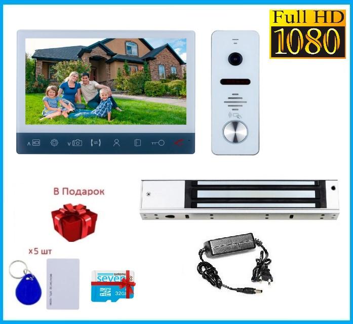 Комплект контроля доступа с магнитным замком и домофона в офис SEVEN KD-7820