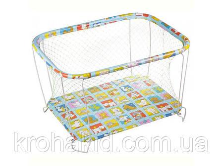 """Детский классический игровой манеж с крупной сеткой KinderBox """"Животные"""" - игровой центр для детей, фото 2"""