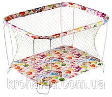 """Детский классический игровой манеж с крупной сеткой KinderBox """"Животные"""" - игровой центр для детей, фото 3"""