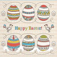 Салфетки  33*33 Happy Easter Марго 20шт 0126857