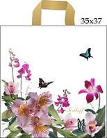 Пакеты Пакет с петлевой ручкой 35*37+3см/95 Цветы (50 шт) 0170010