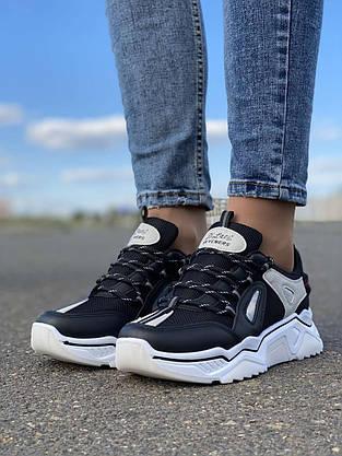 Кросівки жіночі 8 пар в ящику чорного кольору 36-41, фото 2