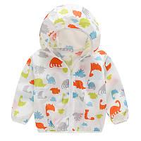 Легкая детская куртка-ветровка Трицератопс
