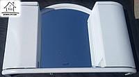 Шкафчик с зеркалом для ванной Арго (белый мрамор)