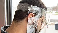 Щиток для лица пластиковый - регулируется размер, 100% прозрачный пластиковый защитный экран