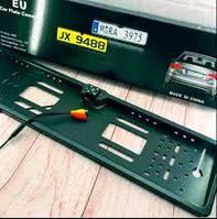 Камера заднего вида для авто в рамке номерного знакас LED подсветкой. Держатель номеров с подсветкой+камера.