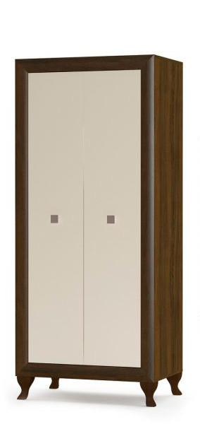 Шкаф 2Д Мебель Сервис Парма Дуб шоколадный/крем глянец
