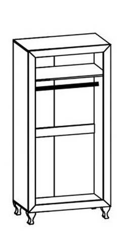 Шкаф 2Д Мебель Сервис Парма Дуб шоколадный/крем глянец , фото 2