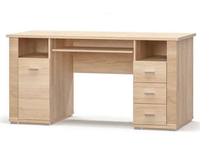 Стол письменный 1Д3Ш Мебель Сервис Гресс дуб самоа