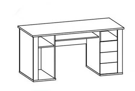 Стол письменный 1Д3Ш Мебель Сервис Гресс дуб самоа , фото 2