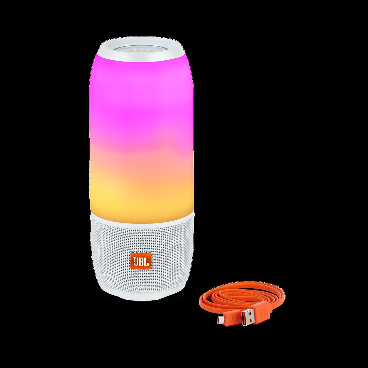 Портативная колонка со светомузыкой  Pulse 3 Mini (Белая)