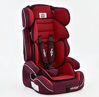 Детское автокресло-бустер JOY Е 4327 красное группа 1-2-3
