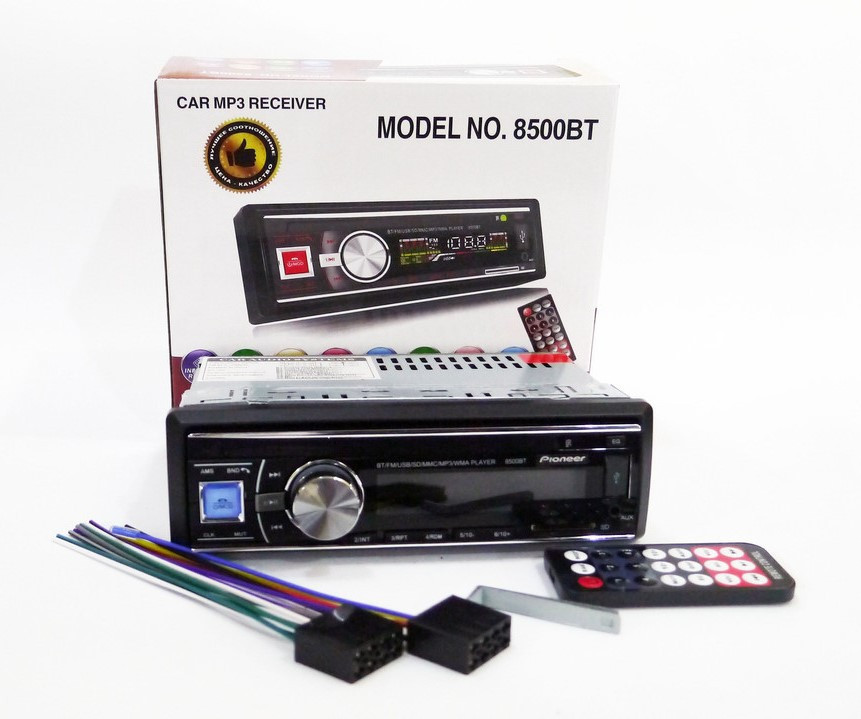 1DIN MP3-8500BT RGB/Bluetooth Автомобильная магнитола RGB панель + пульт управления