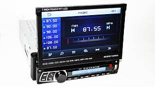 Автомобільна магнітола 1DIN DVD-712 з пультом і виїзним екраном