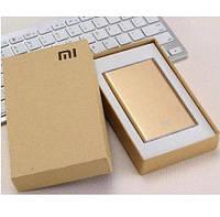Аккумулятор для телефона павербанк золотой Power Bank Xiaomi Mi Slim 12000 mAh