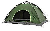 Двухместная туристическая палатка автомат №5-2 Зеленая