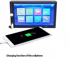 Автомобільна магнітола MP5 2DIN 7012 USB з рамкою ,USB+Bluetoth+Камера