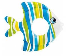 Надувний круг для дітей Тропічні рибки 59223 SH INTEX Блакитний