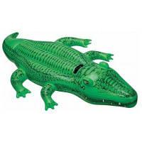 Плотик, дитячий надувний човник - пліт, 168-86см, одномісна, зручний тримач, у формі - крокодила