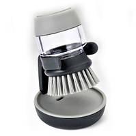 Щётка с дозатором для жидкого мыла Jesopb Soap Brush серая