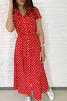 Летнее платье в горошек / софт 26-645, фото 1