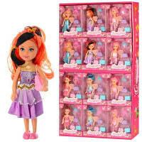 Кукла 700C 14 см, сумочка 3 шт, корона, в кор-ке, 24 шт(4вида) в дисплее 68-39-8 см