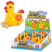 Курица 289-1 заводная, 12 см, несет яйца, 6 шт 29-27-13 см (Цена за блок 6шт)