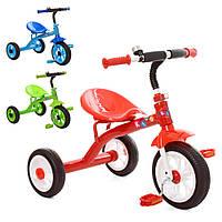 Дитячий триколісний велосипед Profi Kids M 3252 зелений і блакитний