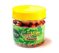 Повітряне тісто FPM Baits® Carp Series Puffi Midi Fluo 25 г у банці Caramel Карамель