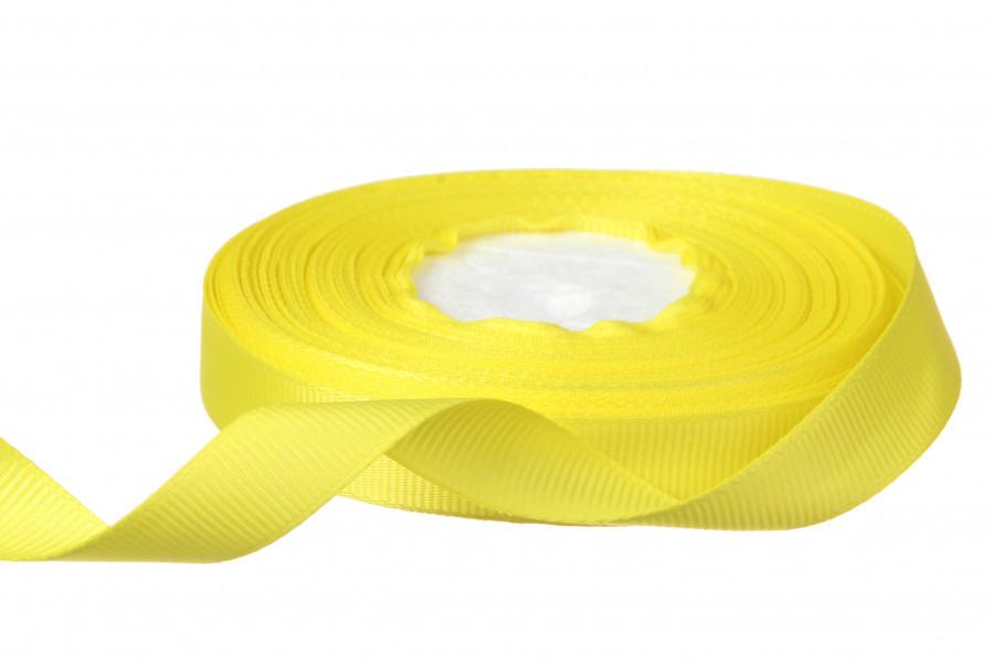 Репсовая лента 1.2 см цвет светло желтый 18 м - 19 грн