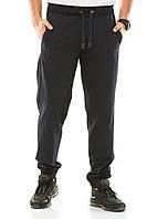 Спортивные штаны мужские с манжетами, черный, размер 50