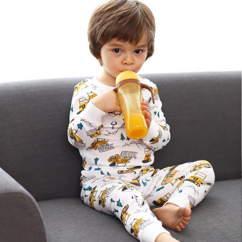 Детская трикотажная пижама на мальчика артикул 702 бульдозеры