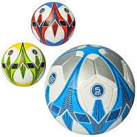 М'яч футбольний 3000-41 розмір 5, ПУ1,4 мм, 32 панелі, ручна робота, 400-420 г, 3 цв, в кульку