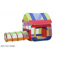 Палатка DT003 (36шт) Домик с трубой-переходом 240*110*138 см
