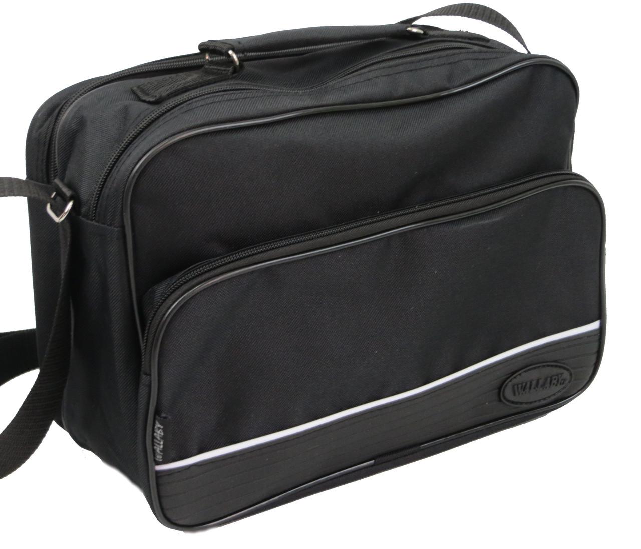 Практичная сумка мужская  из полиэстера Wallaby 2130 черная