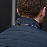Чоловіча демісезонна куртка, синього кольору, фото 9
