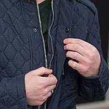 Чоловіча демісезонна куртка, синього кольору, фото 8