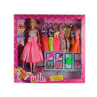 Лялька з нарядом KD034-3 сукні 8 шт, аксесуари, мікс видів, в кор-ке 35-32,5-6 см