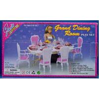 """Меблі """"Gloria"""" 2312 (36шт/3) 48 дет., для їдальні, стіл, стільці, ...в кор. 29*17*6см"""